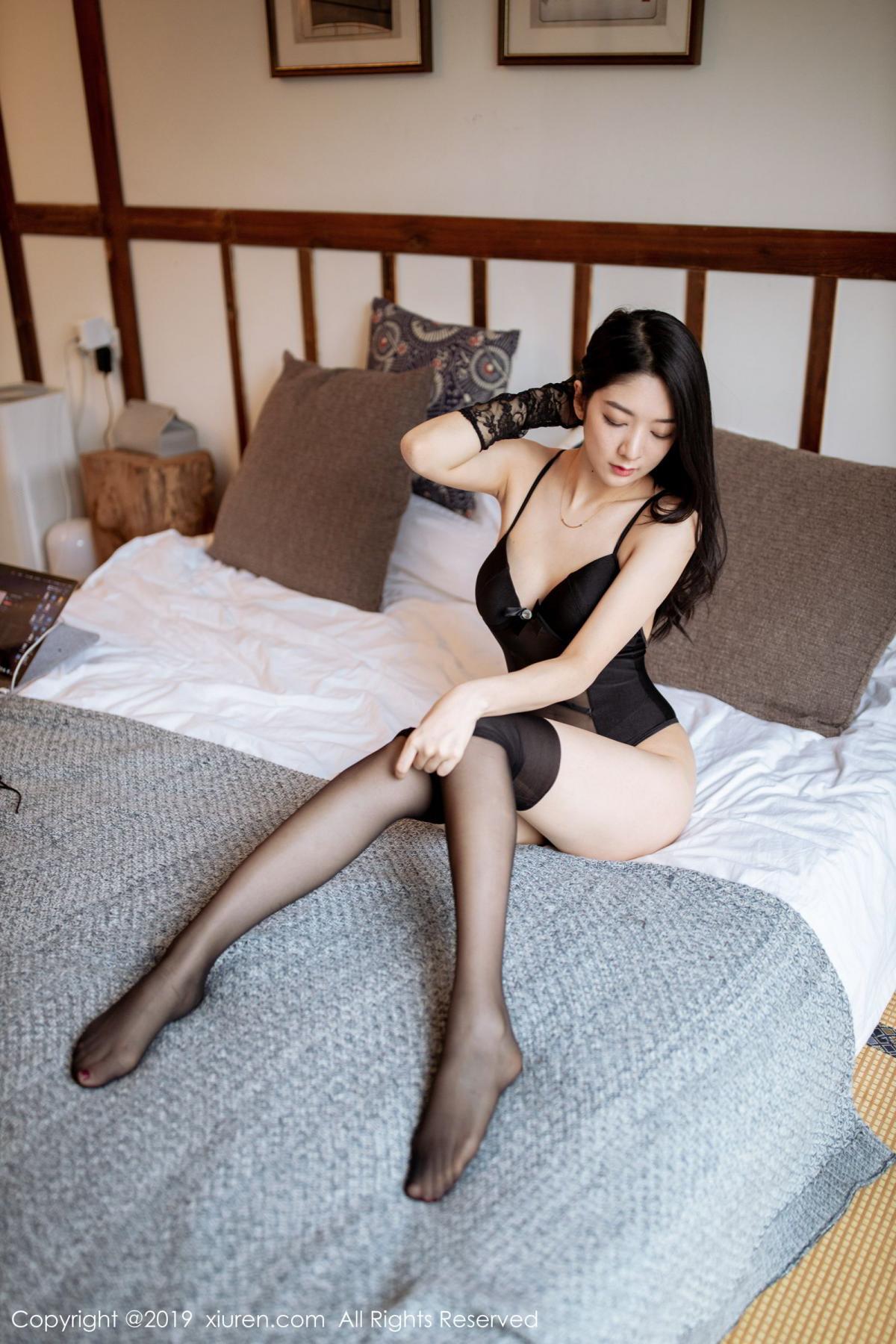 [XiuRen] Vol.1808 Di Yi 57P, Black Silk, Di Yi, Underwear, Xiuren