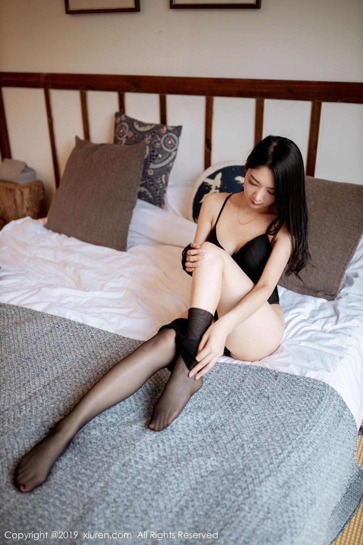 [XiuRen] Vol.1808 Di Yi 58P, Black Silk, Di Yi, Underwear, Xiuren