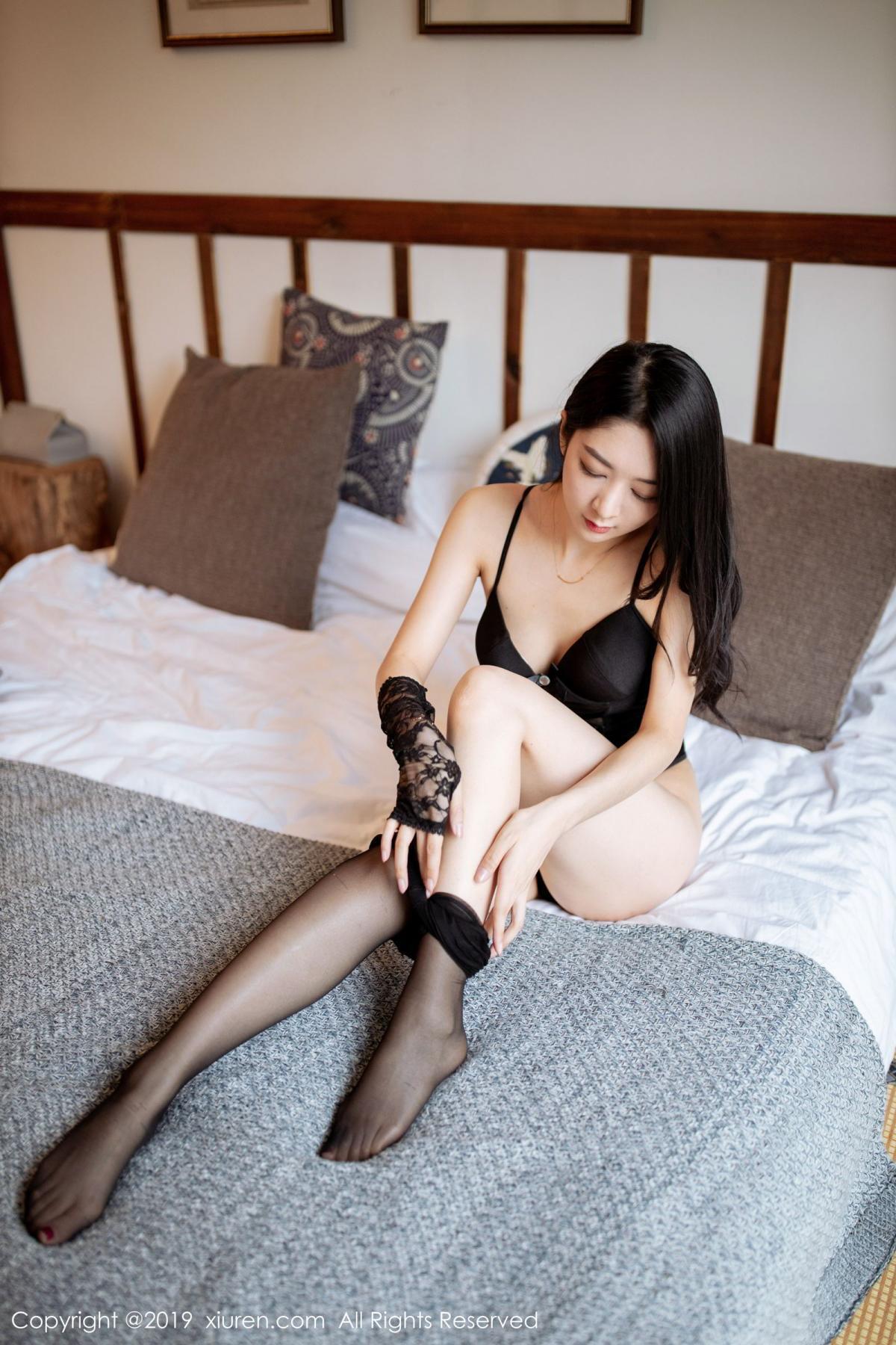 [XiuRen] Vol.1808 Di Yi 59P, Black Silk, Di Yi, Underwear, Xiuren