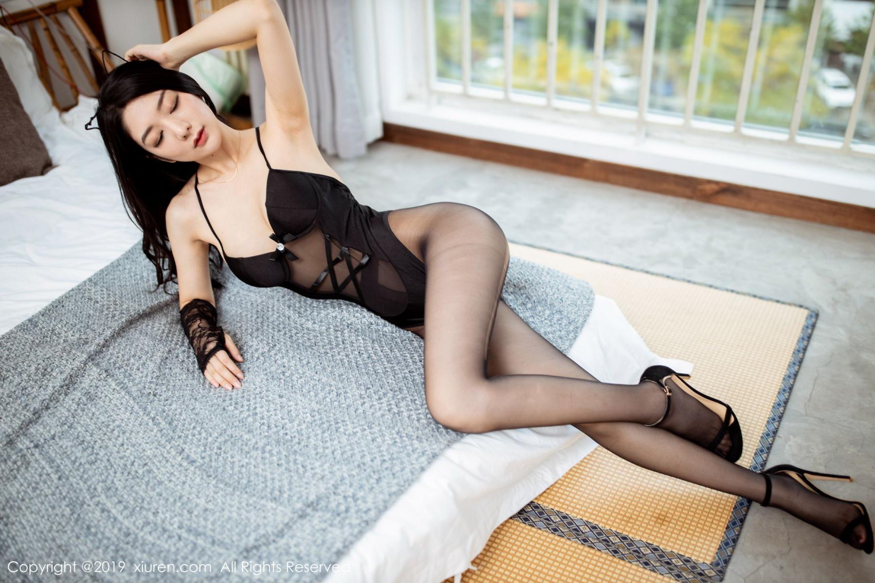 [XiuRen] Vol.1808 Di Yi 5P, Black Silk, Di Yi, Underwear, Xiuren