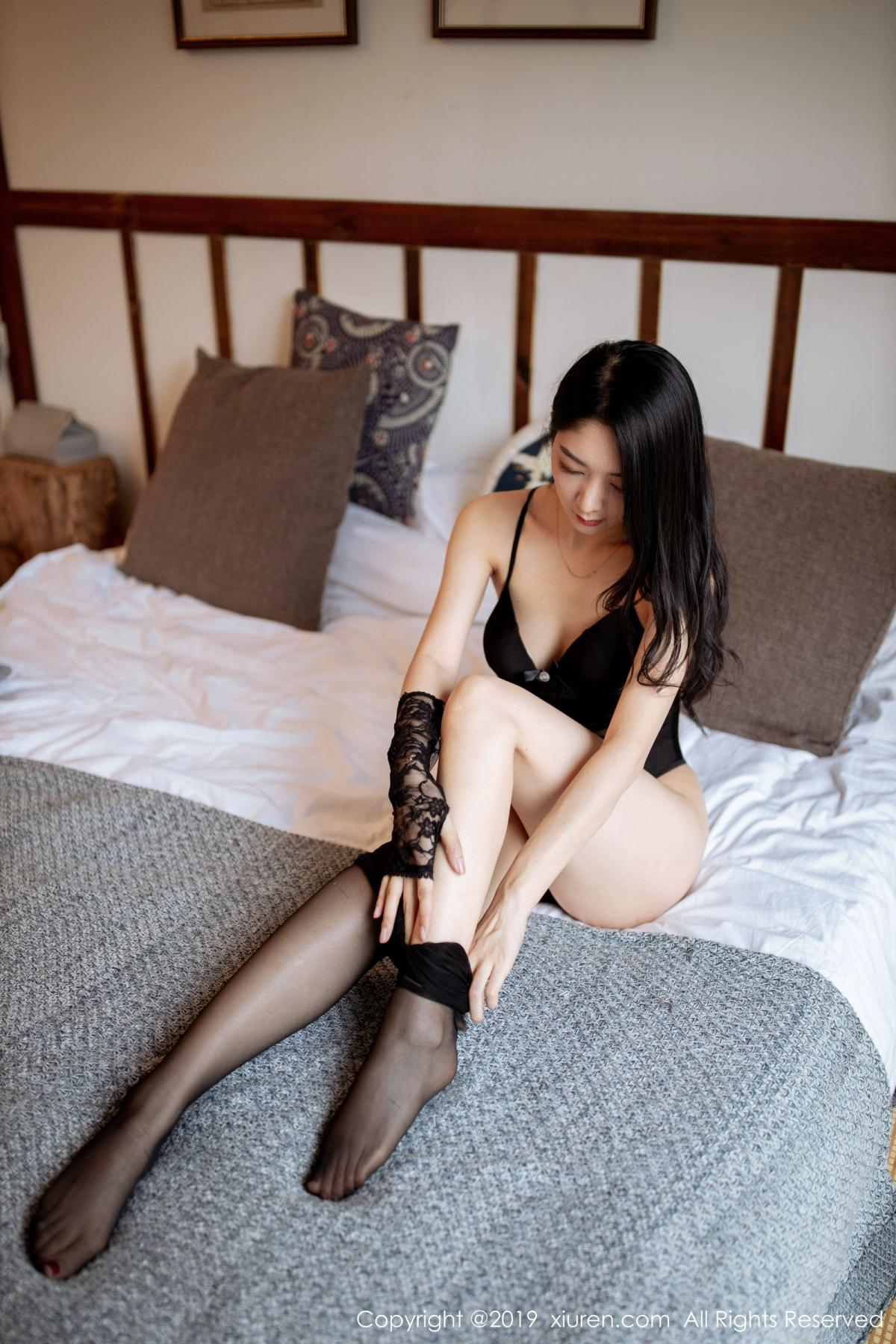 [XiuRen] Vol.1808 Di Yi 60P, Black Silk, Di Yi, Underwear, Xiuren