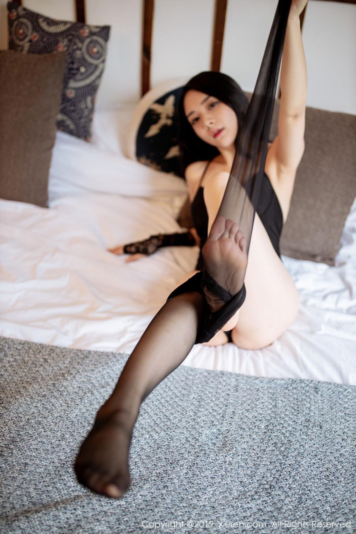 [XiuRen] Vol.1808 Di Yi 61P, Black Silk, Di Yi, Underwear, Xiuren
