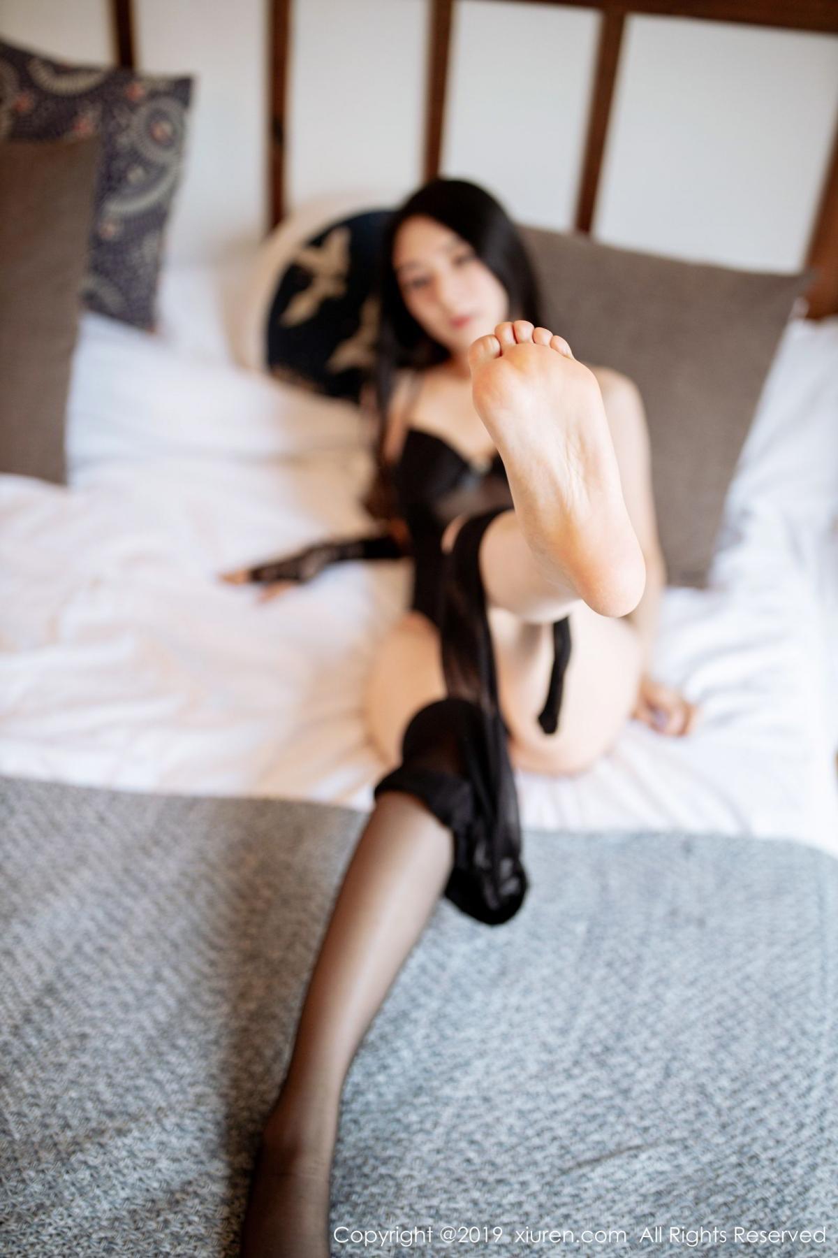 [XiuRen] Vol.1808 Di Yi 63P, Black Silk, Di Yi, Underwear, Xiuren