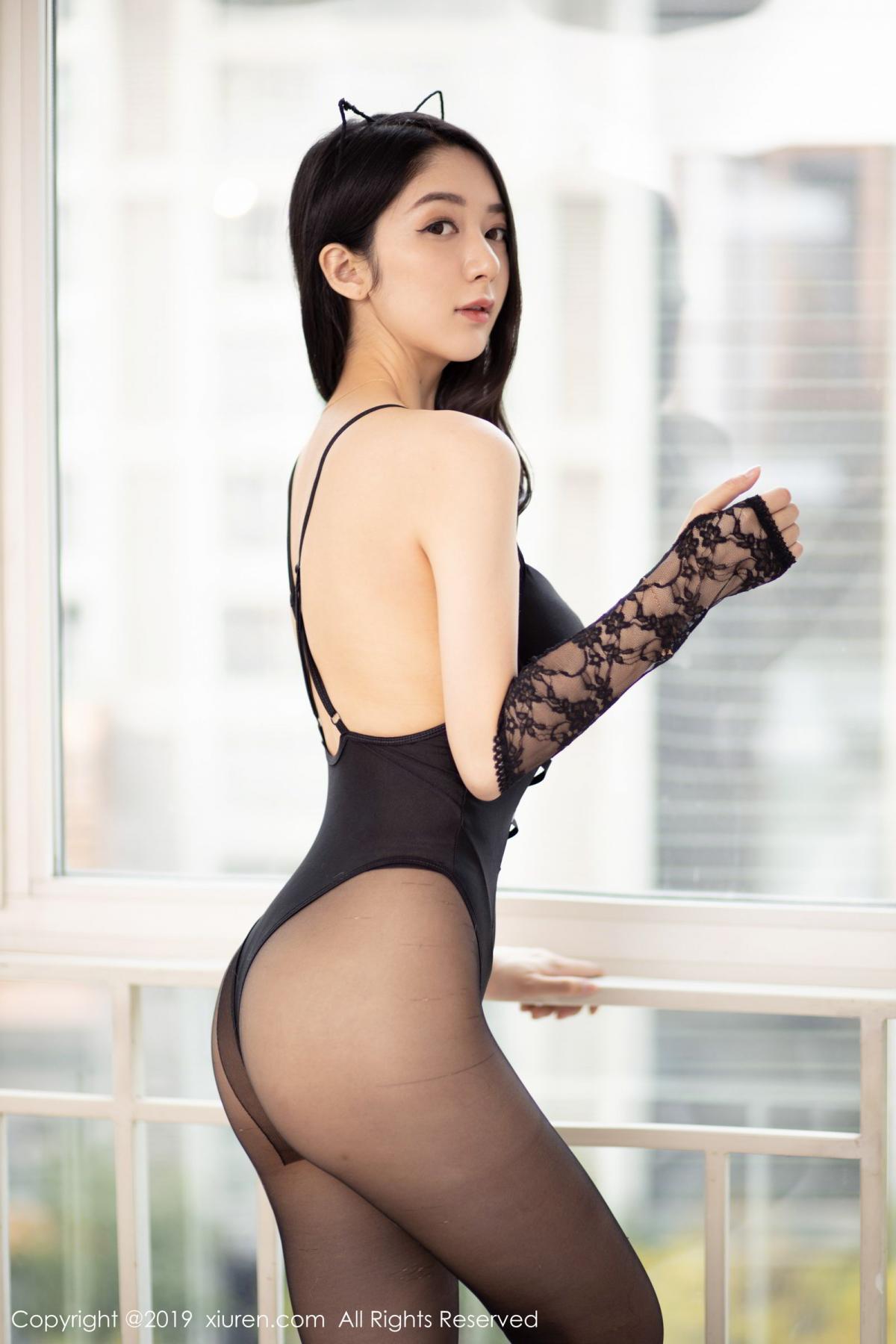 [XiuRen] Vol.1808 Di Yi 64P, Black Silk, Di Yi, Underwear, Xiuren