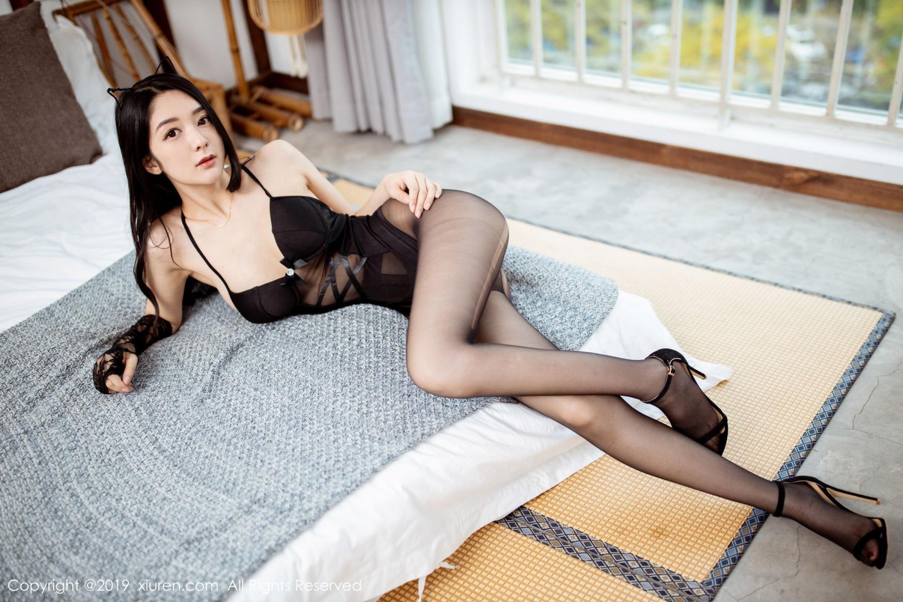 [XiuRen] Vol.1808 Di Yi 8P, Black Silk, Di Yi, Underwear, Xiuren