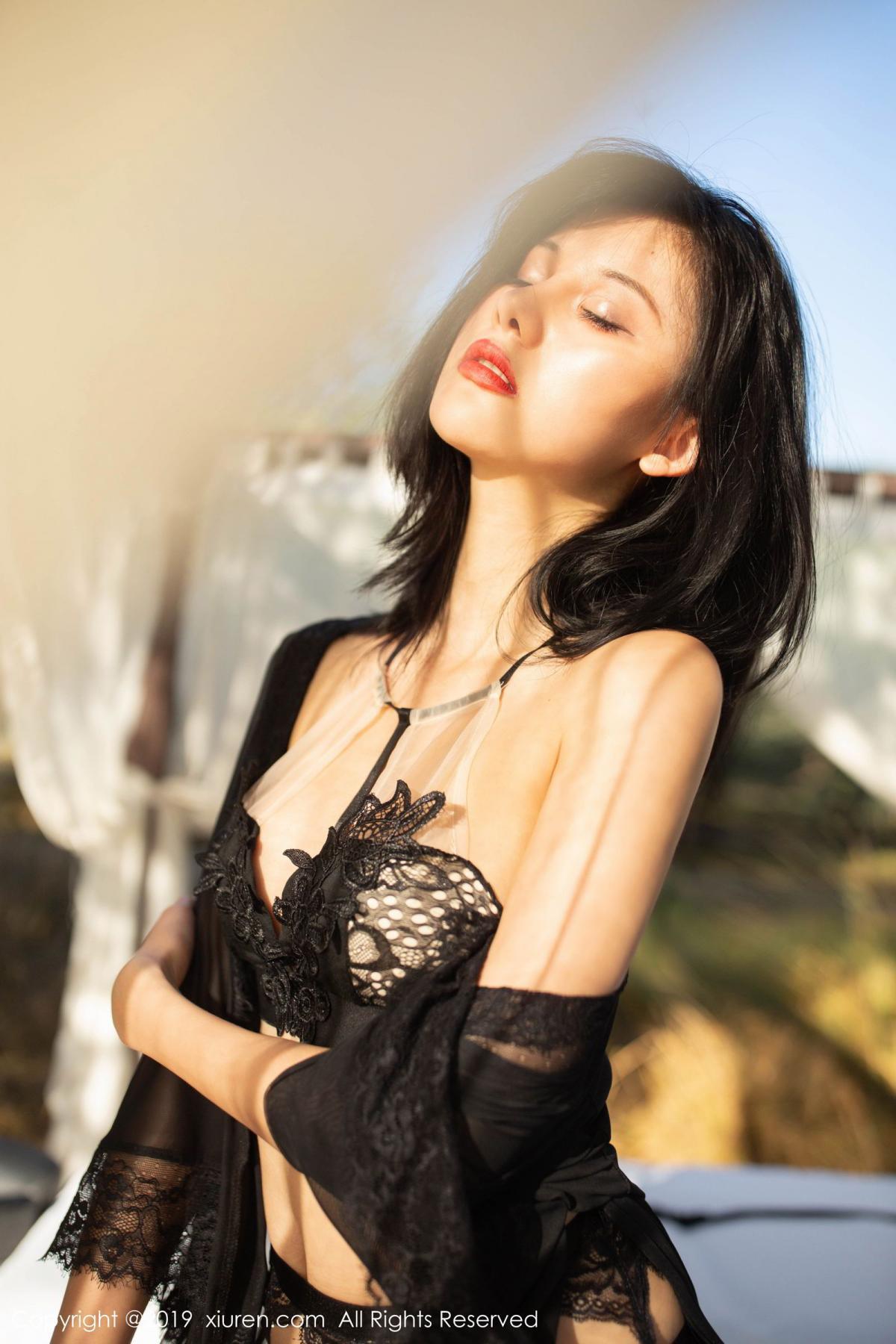 [XiuRen] Vol.1830 Jiu Shi A Zhu 22P, Black Silk, Jiu Shi A Zhu, Outdoor, Underwear, Xiuren