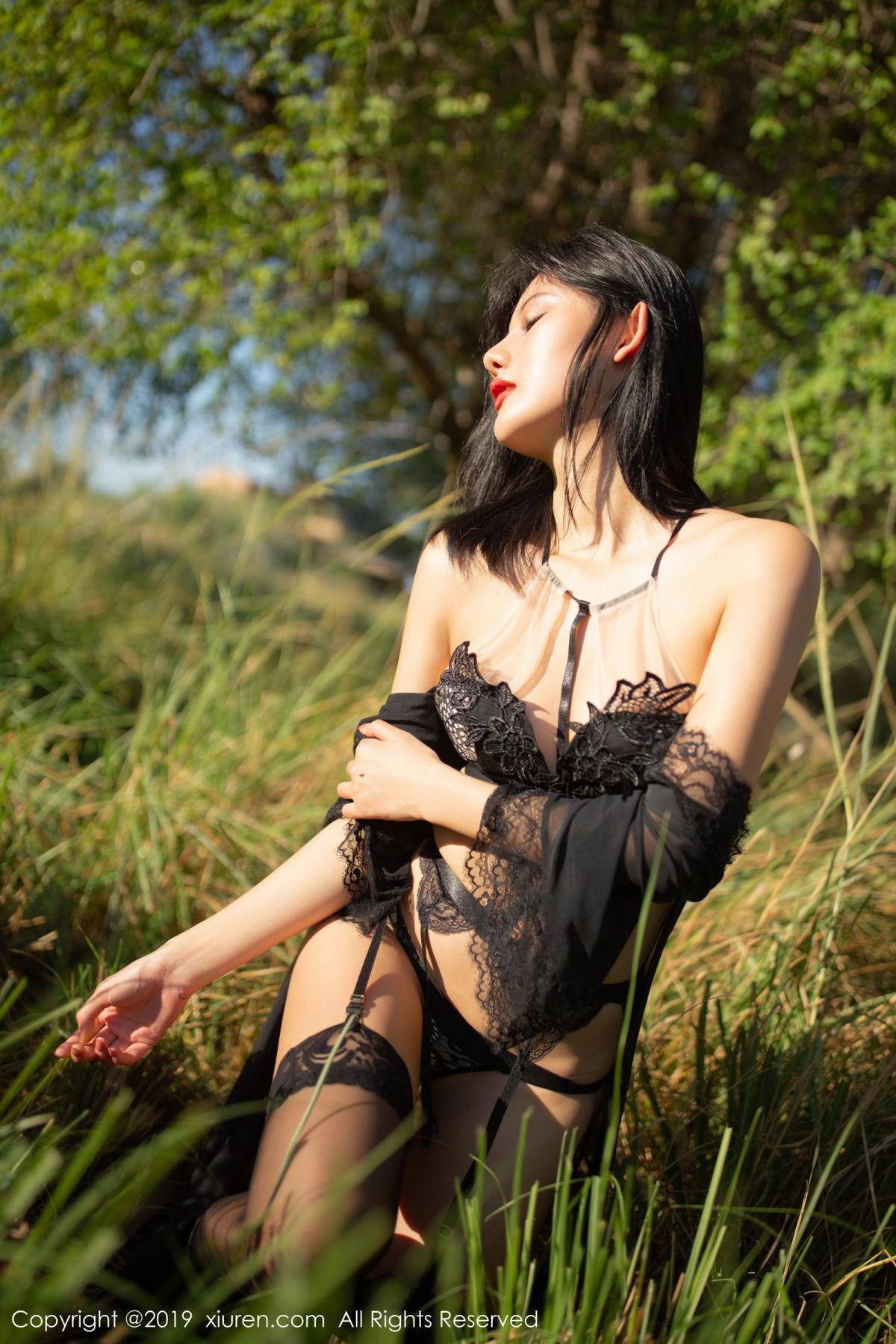 [XiuRen] Vol.1830 Jiu Shi A Zhu 30P, Black Silk, Jiu Shi A Zhu, Outdoor, Underwear, Xiuren