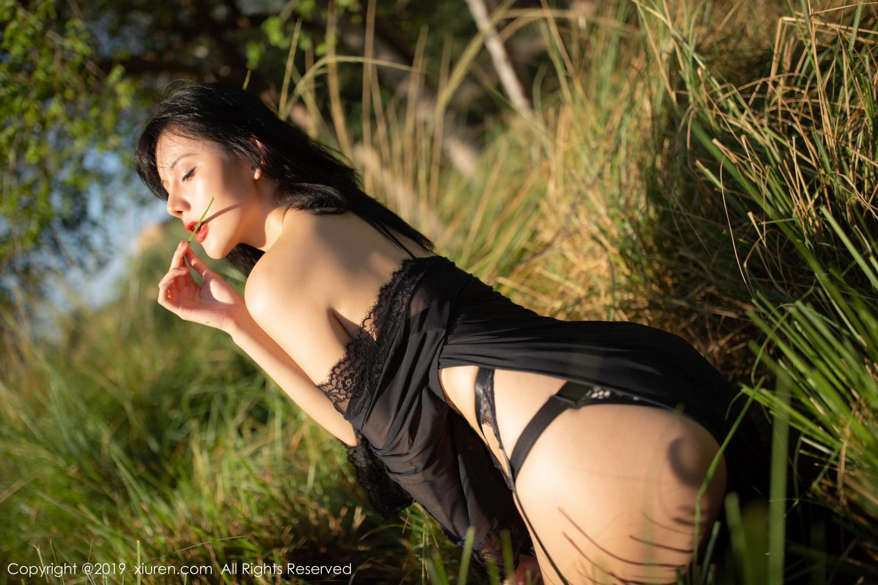 [XiuRen] Vol.1830 Jiu Shi A Zhu 31P, Black Silk, Jiu Shi A Zhu, Outdoor, Underwear, Xiuren