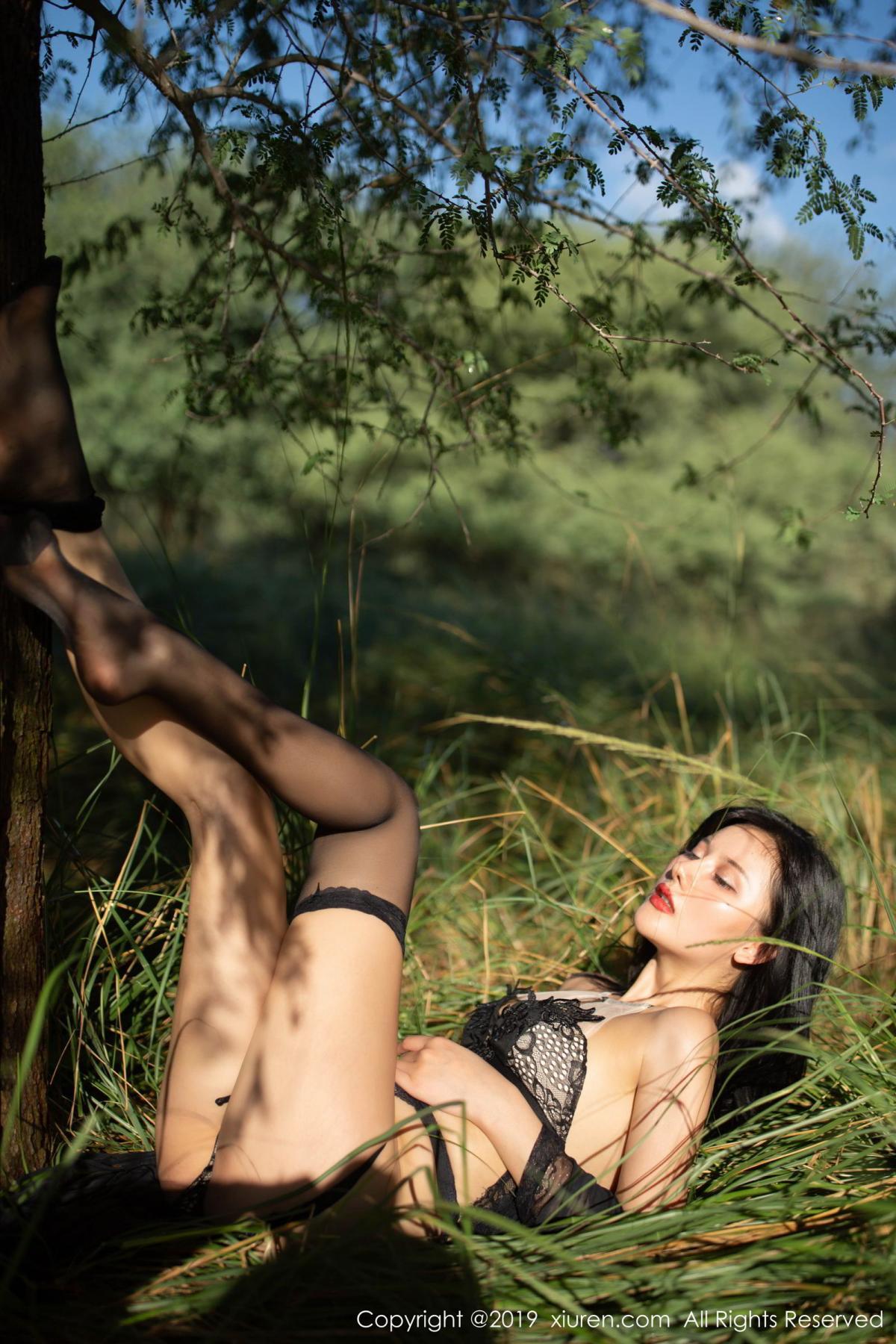 [XiuRen] Vol.1830 Jiu Shi A Zhu 56P, Black Silk, Jiu Shi A Zhu, Outdoor, Underwear, Xiuren