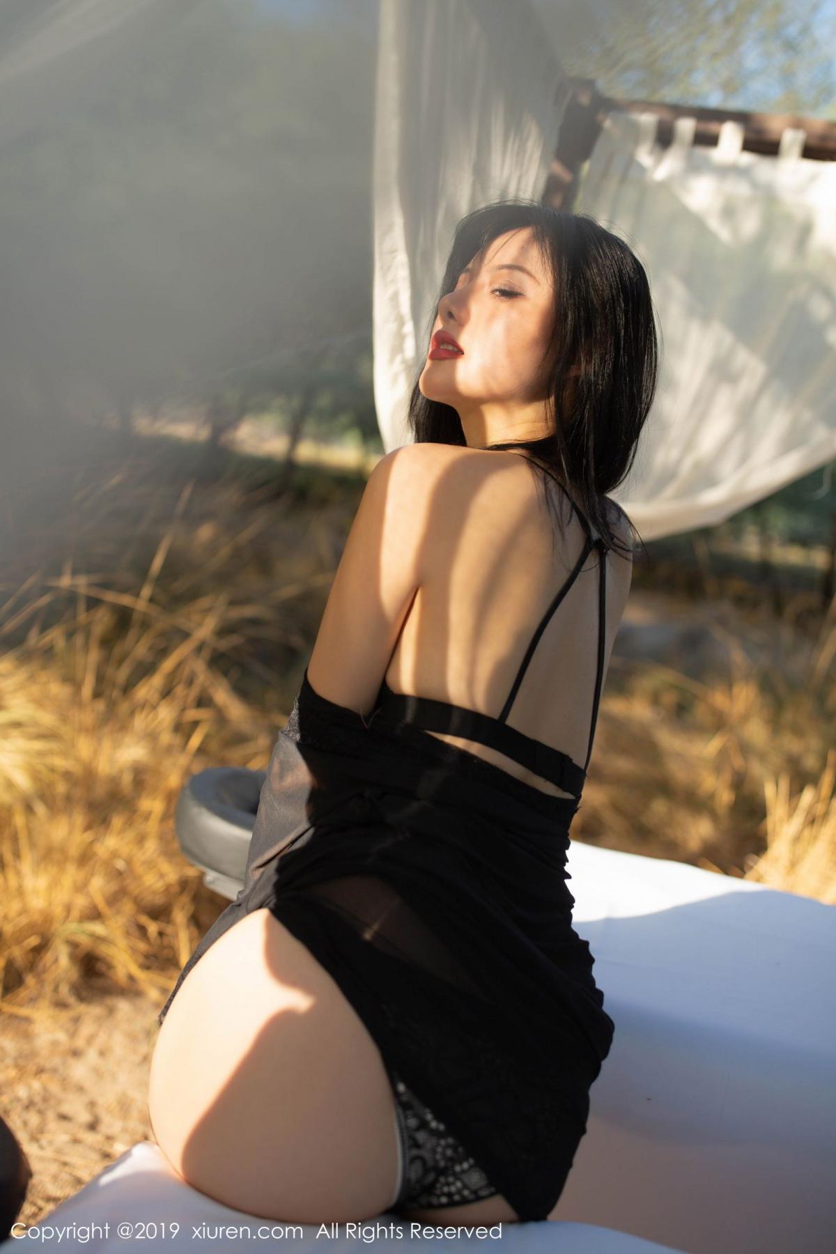 [XiuRen] Vol.1830 Jiu Shi A Zhu 71P, Black Silk, Jiu Shi A Zhu, Outdoor, Underwear, Xiuren