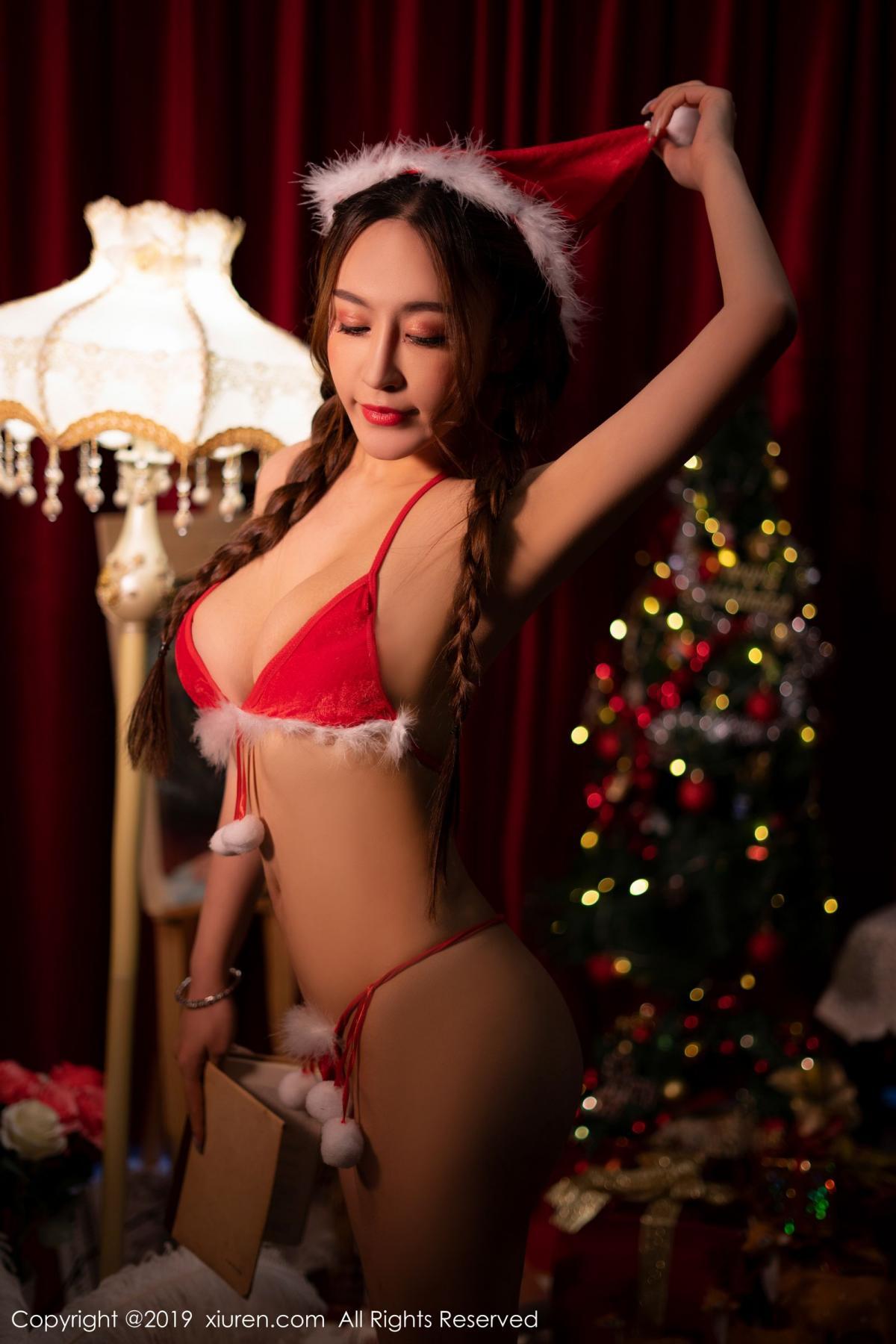 [XiuRen] Vol.1835 Zhou Jing Kong 12P, Christmas, Underwear, Xiuren, Zhou Jing Kong