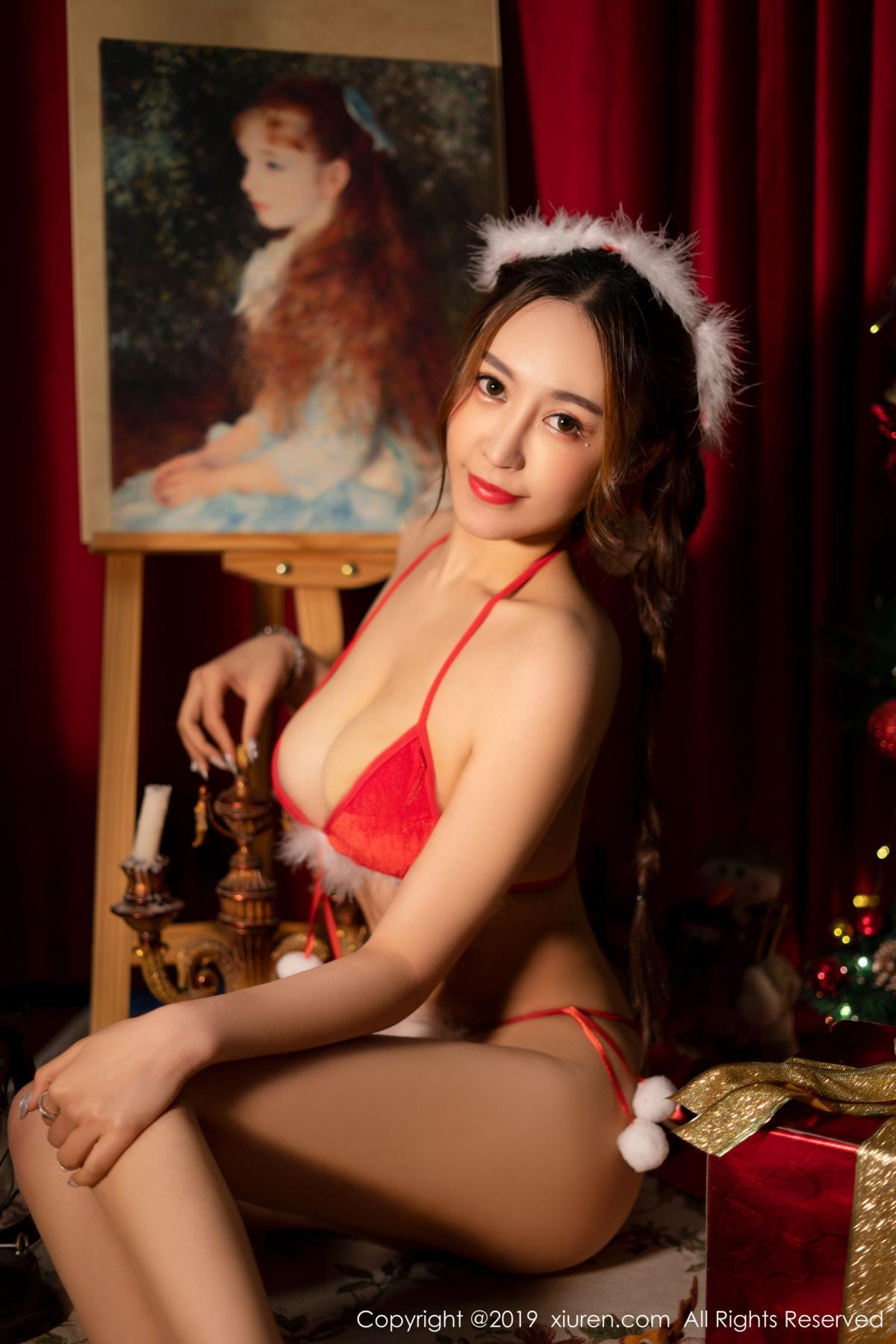 [XiuRen] Vol.1835 Zhou Jing Kong 26P, Christmas, Underwear, Xiuren, Zhou Jing Kong
