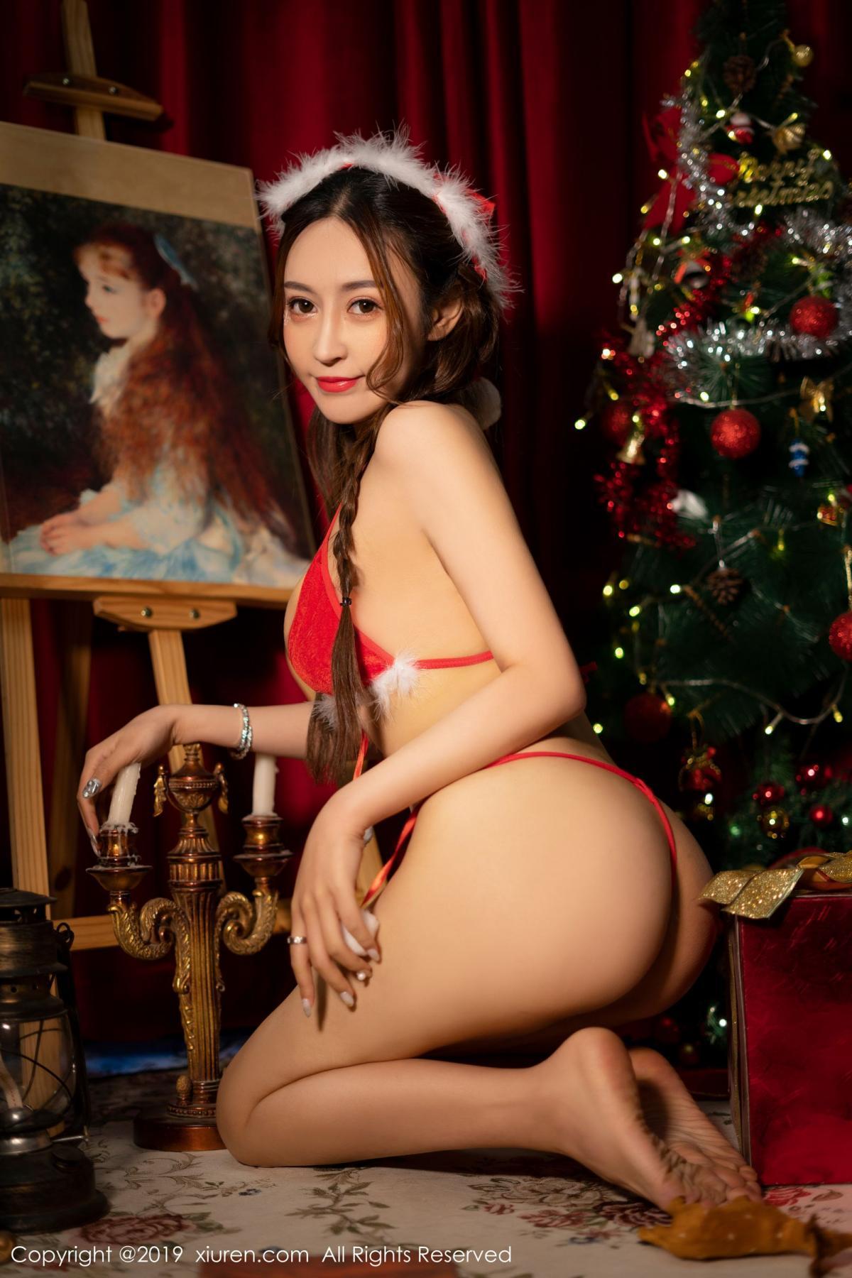 [XiuRen] Vol.1835 Zhou Jing Kong 29P, Christmas, Underwear, Xiuren, Zhou Jing Kong