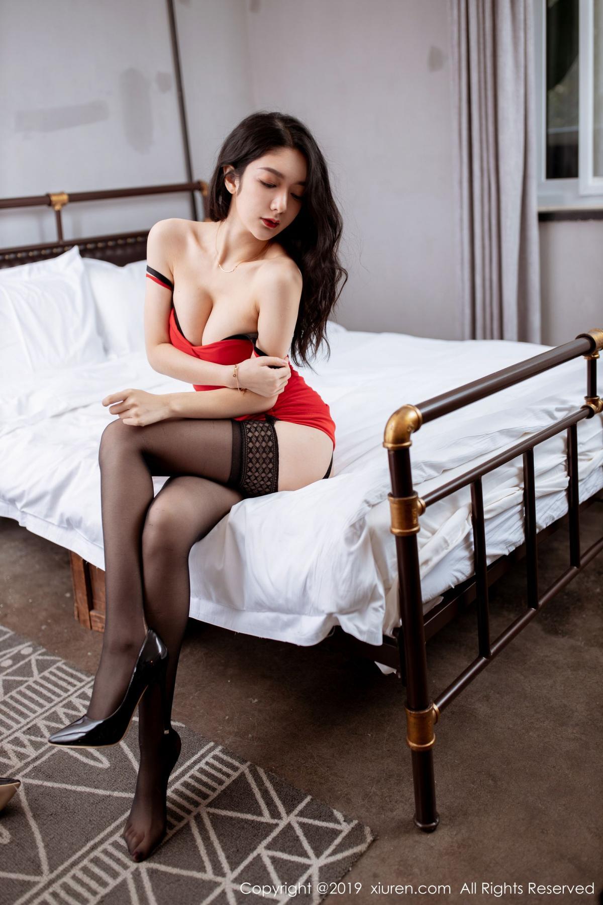 [XiuRen] Vol.1844 Xiao Re Ba 21P, Black Silk, Di Yi, Xiuren