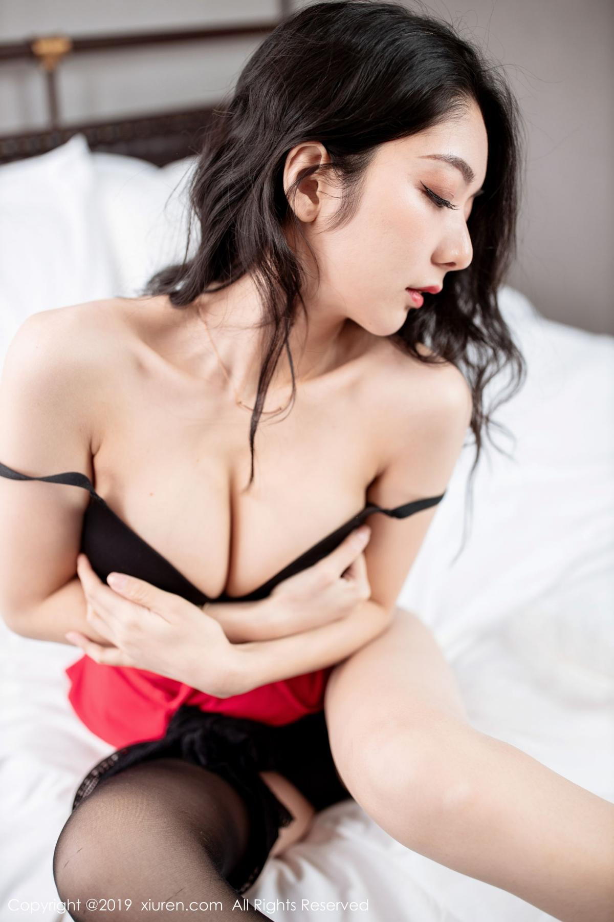 [XiuRen] Vol.1844 Xiao Re Ba 56P, Black Silk, Di Yi, Xiuren
