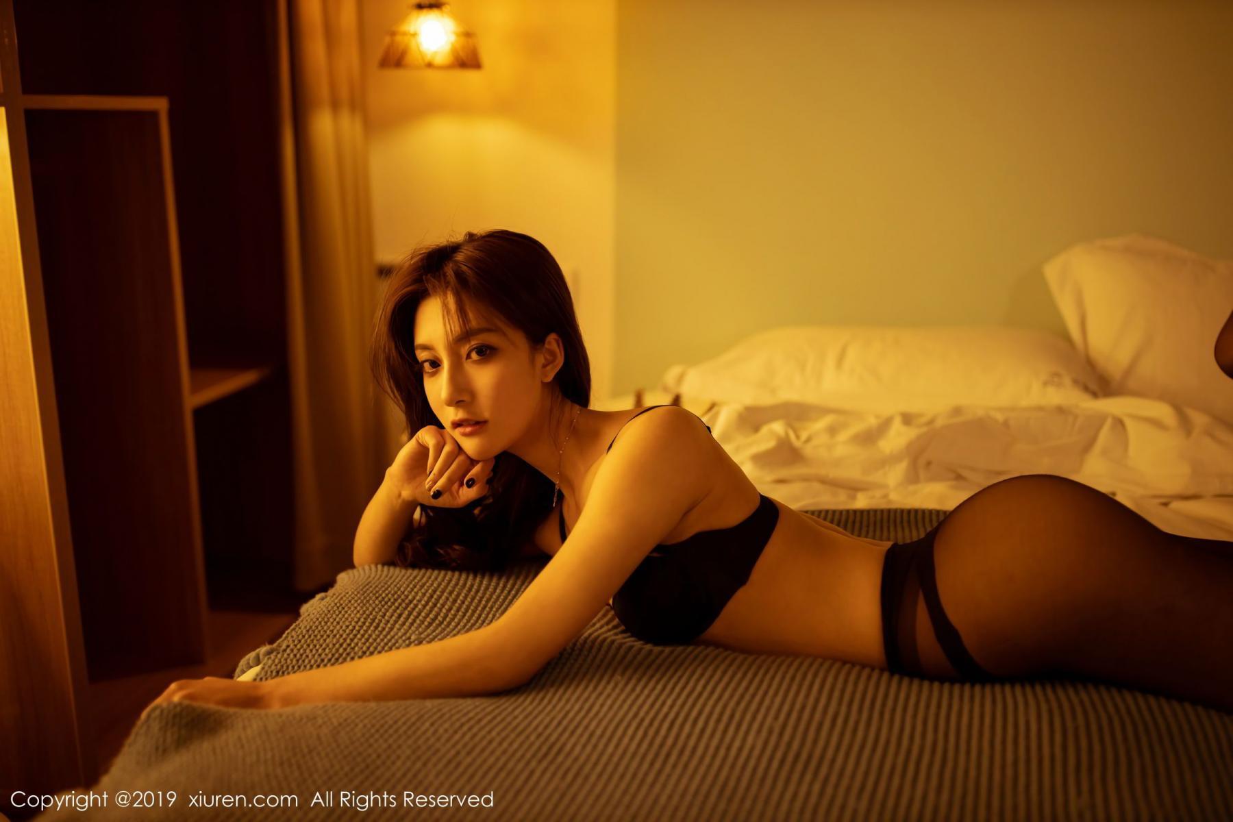 [XiuRen] Vol.1868 Lin Wen Wen 20P, Black Silk, Lin Wen Wen, Underwear, Xiuren
