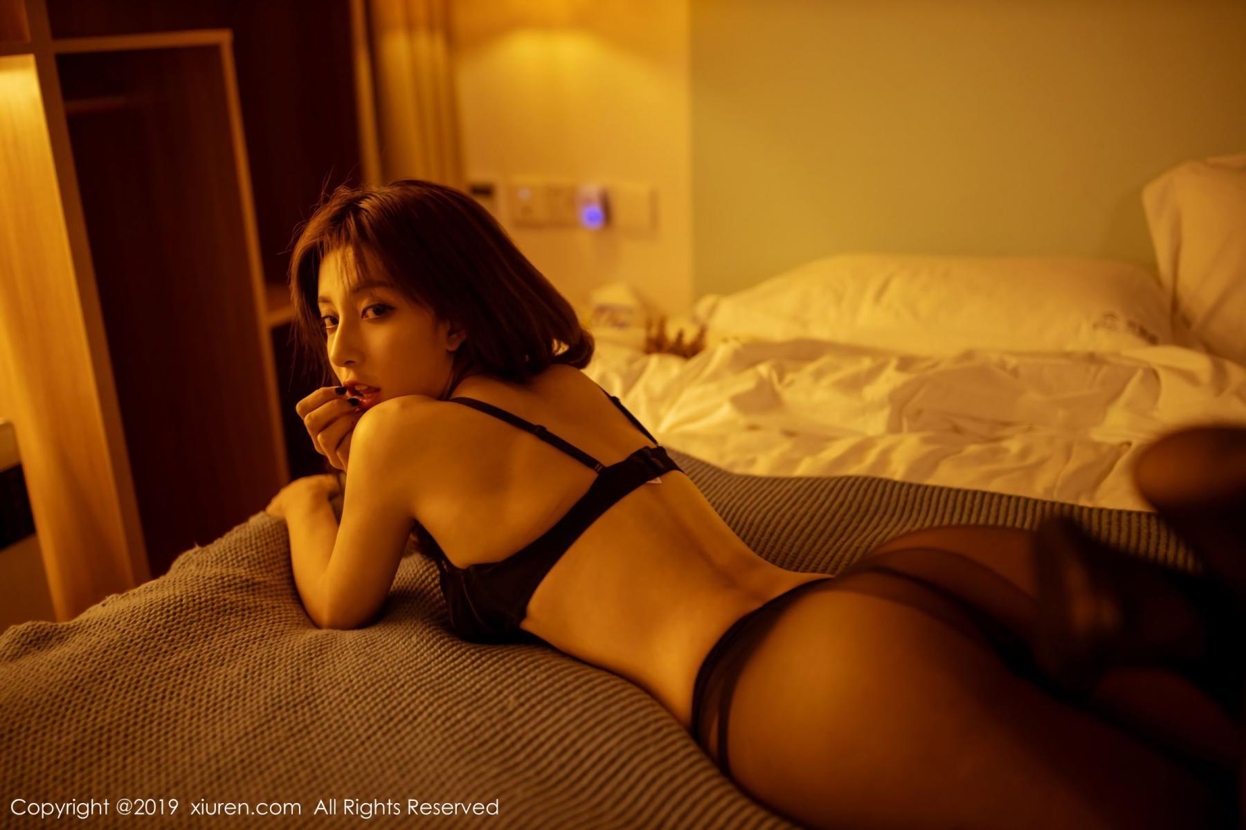[XiuRen] Vol.1868 Lin Wen Wen 25P, Black Silk, Lin Wen Wen, Underwear, Xiuren