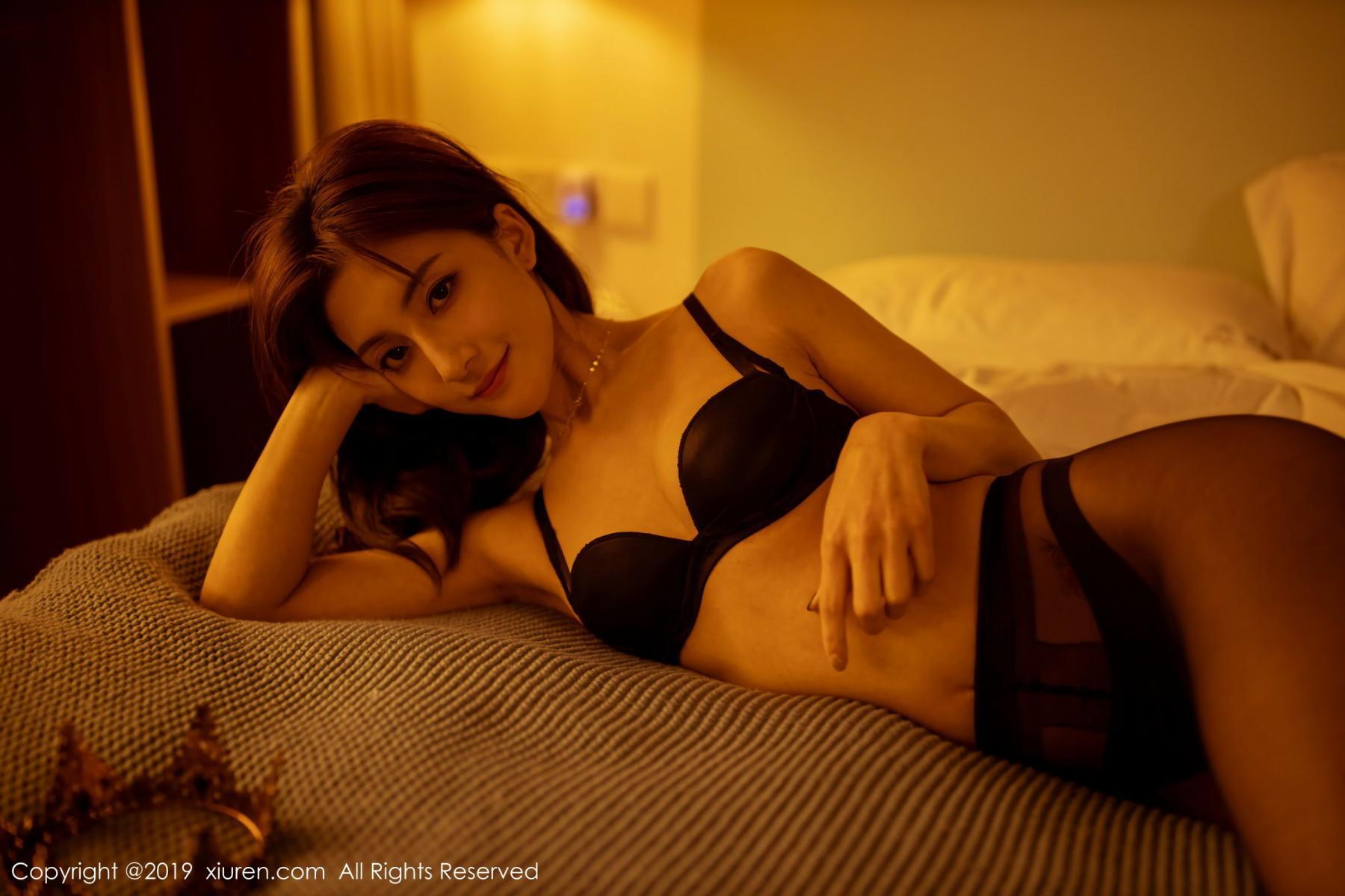 [XiuRen] Vol.1868 Lin Wen Wen 35P, Black Silk, Lin Wen Wen, Underwear, Xiuren