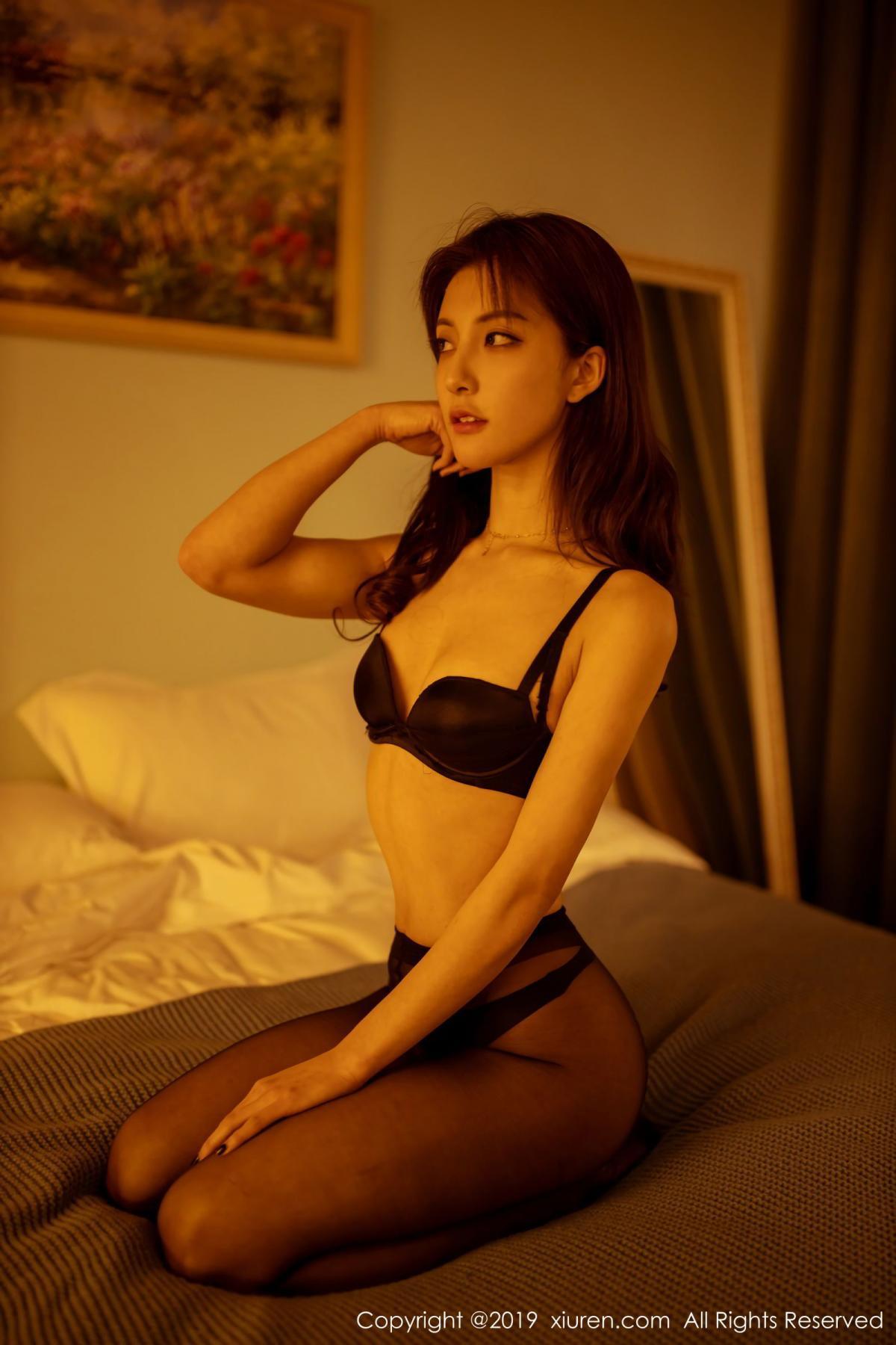 [XiuRen] Vol.1868 Lin Wen Wen 46P, Black Silk, Lin Wen Wen, Underwear, Xiuren