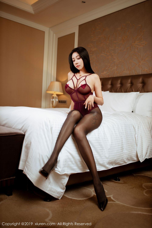 [XiuRen] Vol.1875 Guo Er Victoria 13P, Black Silk, Song Guo Er, Underwear, Xiuren