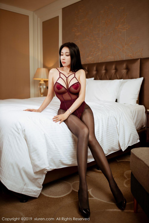 [XiuRen] Vol.1875 Guo Er Victoria 1P, Black Silk, Song Guo Er, Underwear, Xiuren