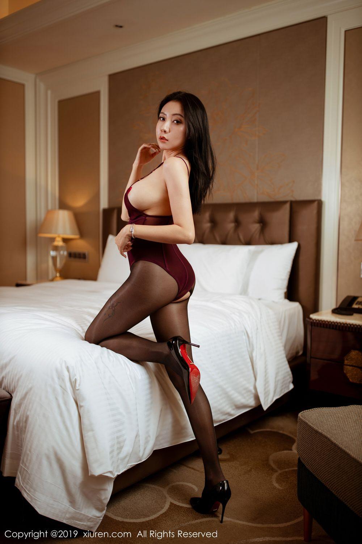 [XiuRen] Vol.1875 Guo Er Victoria 21P, Black Silk, Song Guo Er, Underwear, Xiuren