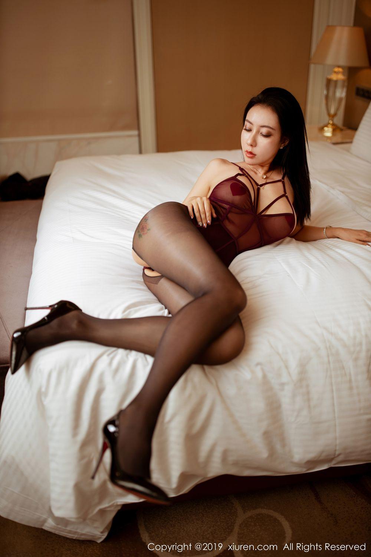 [XiuRen] Vol.1875 Guo Er Victoria 23P, Black Silk, Song Guo Er, Underwear, Xiuren