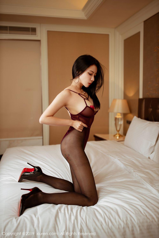 [XiuRen] Vol.1875 Guo Er Victoria 26P, Black Silk, Song Guo Er, Underwear, Xiuren