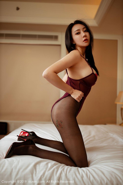 [XiuRen] Vol.1875 Guo Er Victoria 28P, Black Silk, Song Guo Er, Underwear, Xiuren