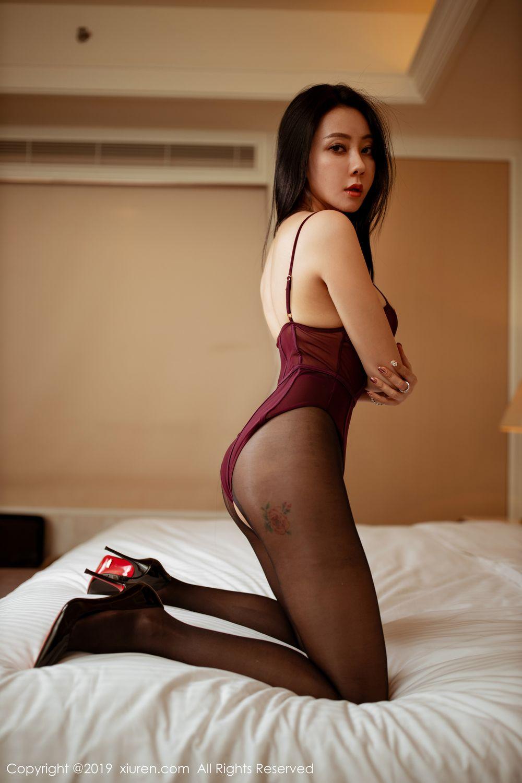 [XiuRen] Vol.1875 Guo Er Victoria 29P, Black Silk, Song Guo Er, Underwear, Xiuren