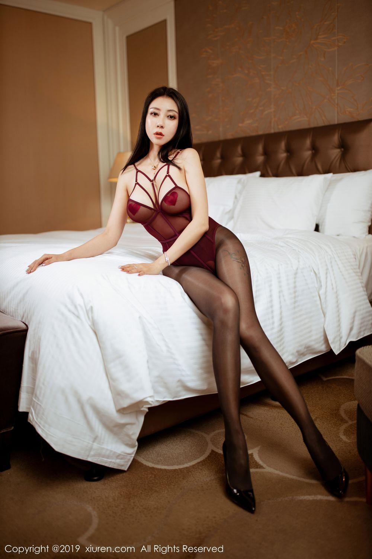 [XiuRen] Vol.1875 Guo Er Victoria 2P, Black Silk, Song Guo Er, Underwear, Xiuren