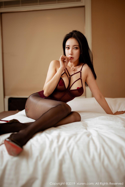[XiuRen] Vol.1875 Guo Er Victoria 33P, Black Silk, Song Guo Er, Underwear, Xiuren