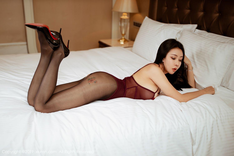 [XiuRen] Vol.1875 Guo Er Victoria 34P, Black Silk, Song Guo Er, Underwear, Xiuren