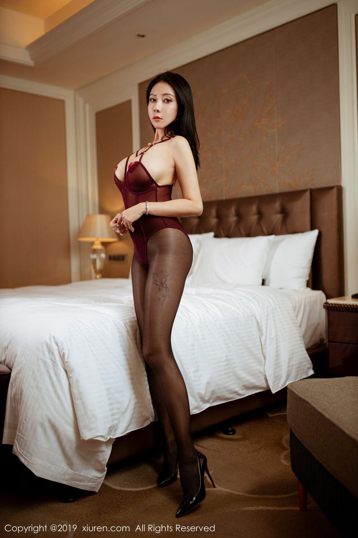 [XiuRen] Vol.1875 Guo Er Victoria 39P, Black Silk, Song Guo Er, Underwear, Xiuren