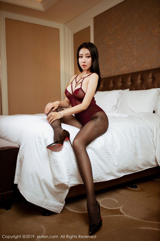 [XiuRen] Vol.1875 Guo Er Victoria 5P, Black Silk, Song Guo Er, Underwear, Xiuren