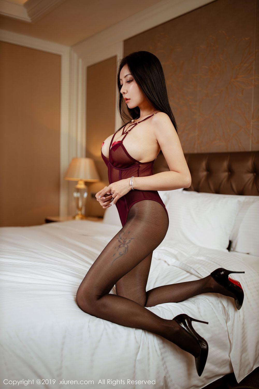 [XiuRen] Vol.1875 Guo Er Victoria 6P, Black Silk, Song Guo Er, Underwear, Xiuren