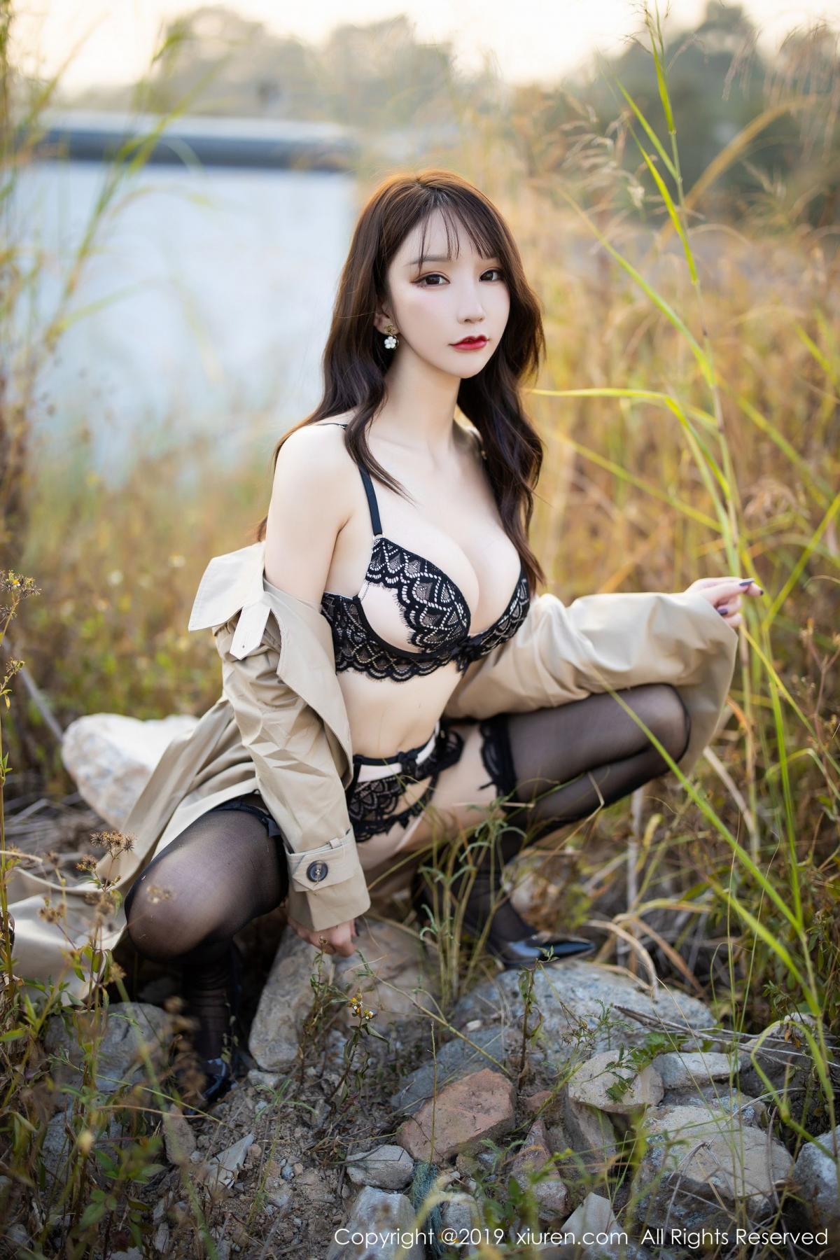 [XiuRen] Vol.1876 Zhou Yu Xi 45P, Black Silk, Outdoor, Underwear, Xiuren, Zhou Yu Xi