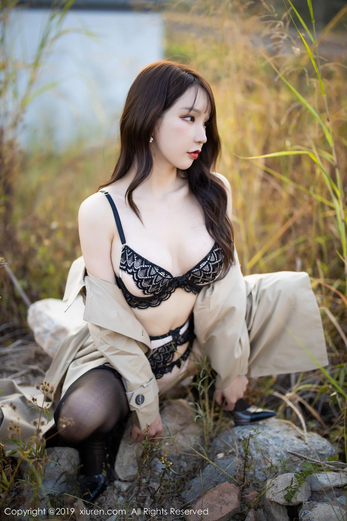 [XiuRen] Vol.1876 Zhou Yu Xi 47P, Black Silk, Outdoor, Underwear, Xiuren, Zhou Yu Xi