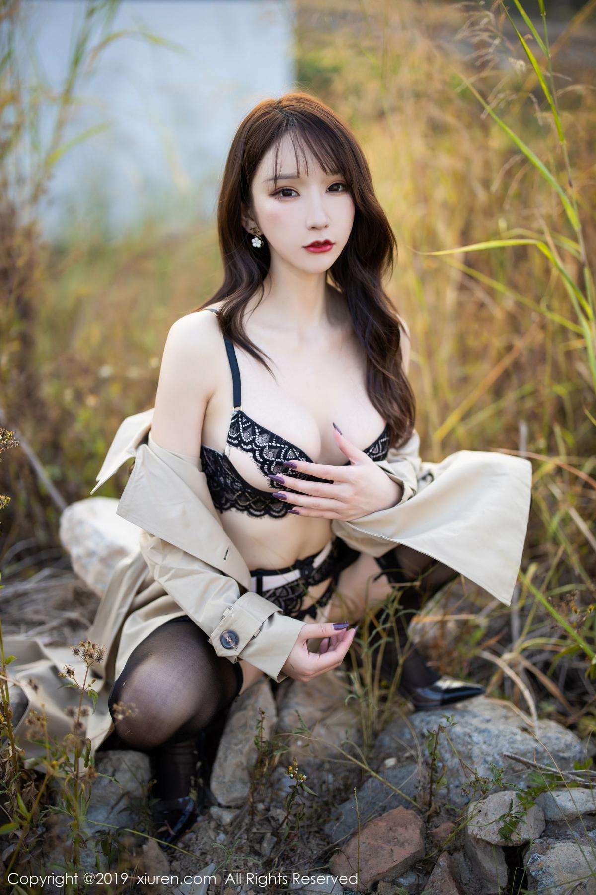 [XiuRen] Vol.1876 Zhou Yu Xi 48P, Black Silk, Outdoor, Underwear, Xiuren, Zhou Yu Xi
