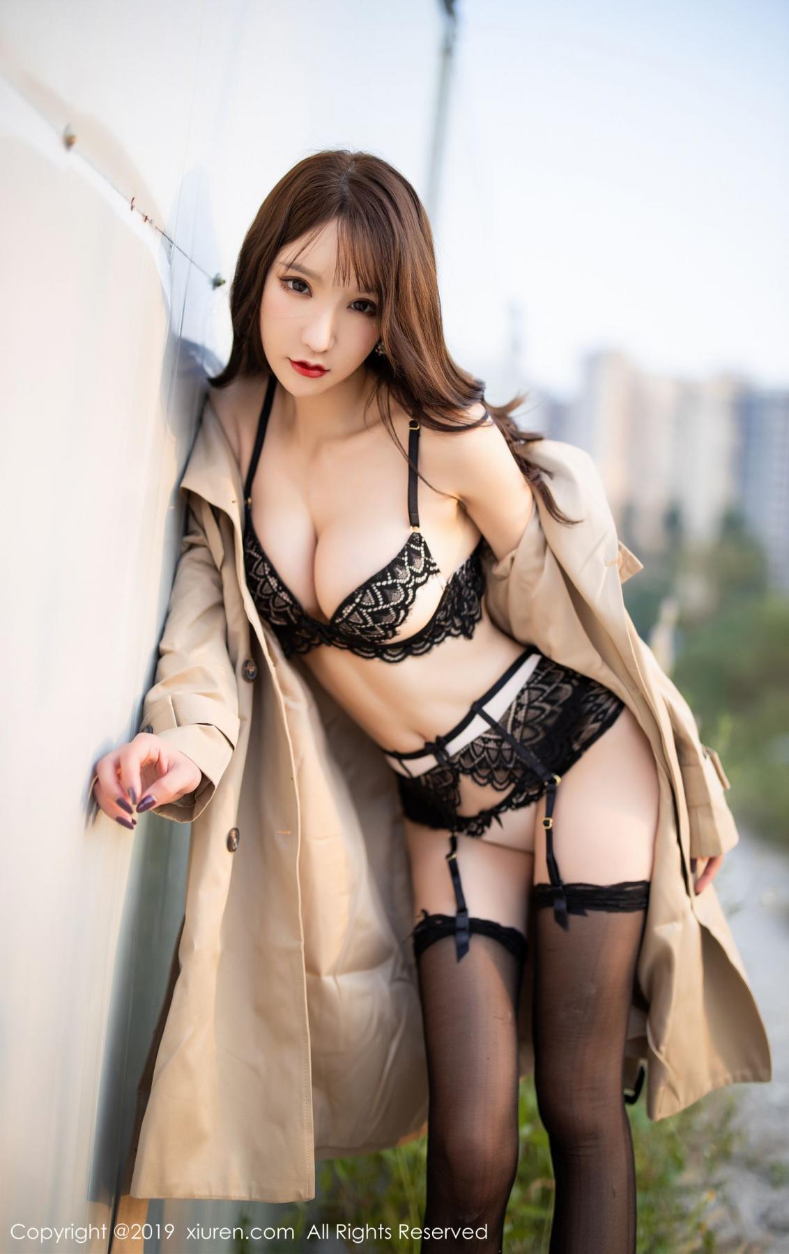 [XiuRen] Vol.1876 Zhou Yu Xi 86P, Black Silk, Outdoor, Underwear, Xiuren, Zhou Yu Xi
