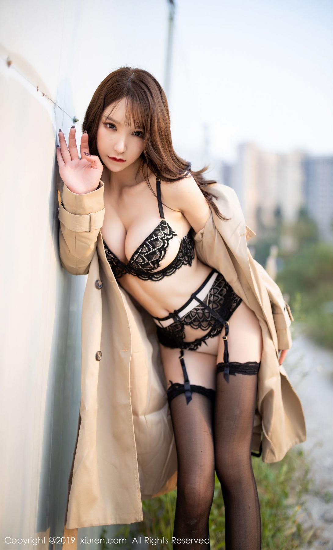 [XiuRen] Vol.1876 Zhou Yu Xi 87P, Black Silk, Outdoor, Underwear, Xiuren, Zhou Yu Xi