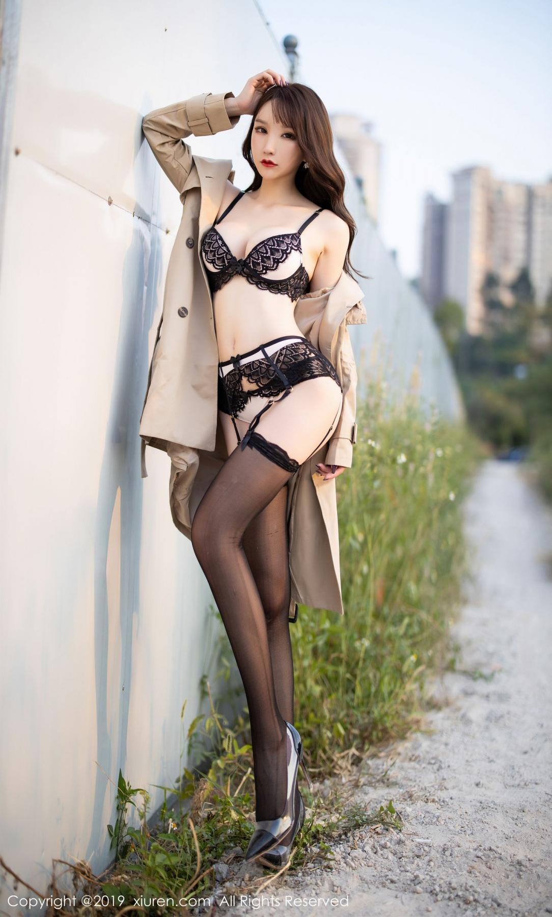 [XiuRen] Vol.1876 Zhou Yu Xi 88P, Black Silk, Outdoor, Underwear, Xiuren, Zhou Yu Xi