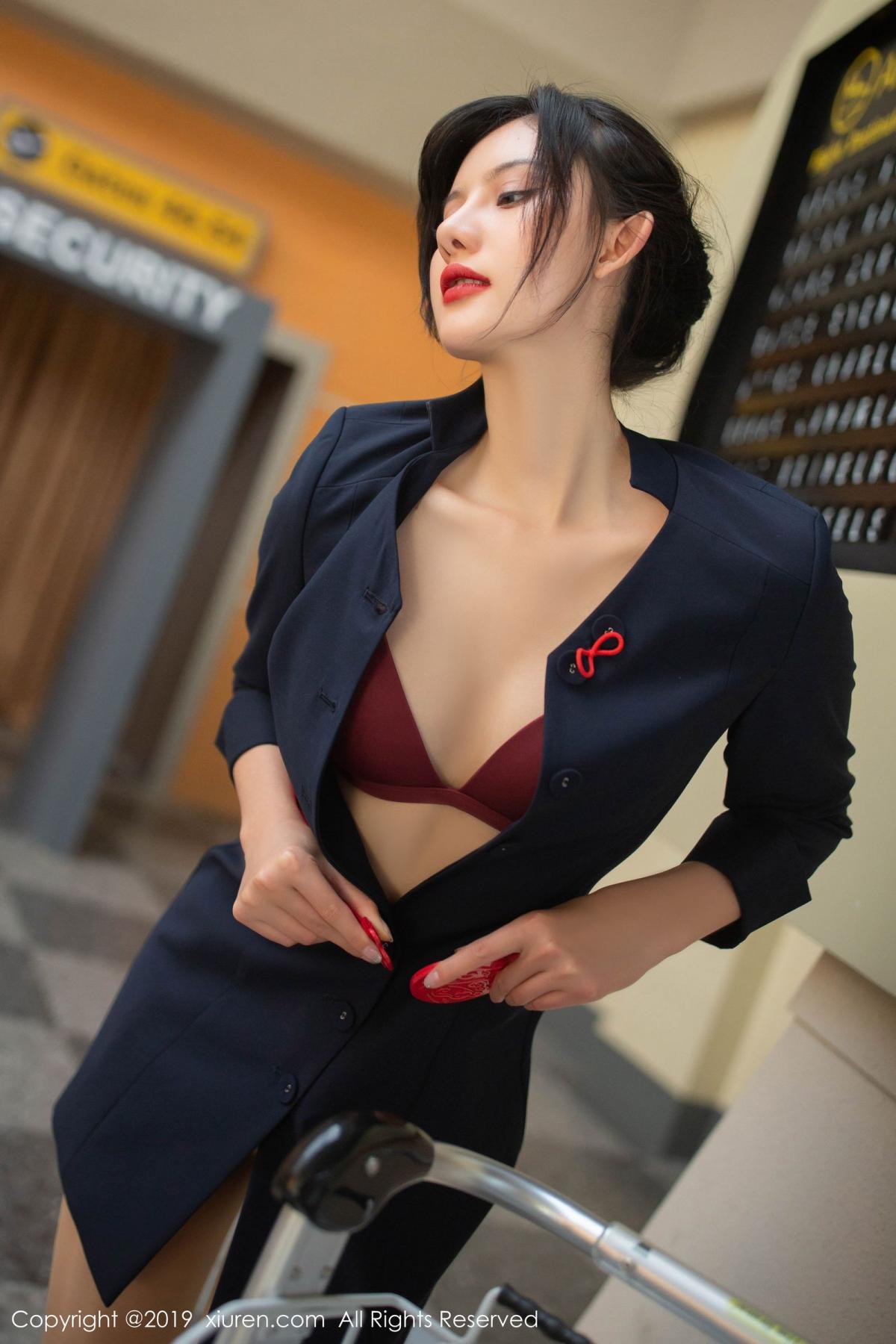 [XiuRen] Vol.1881 Jiu Shi A Zhu 65P, Black Silk, Jiu Shi A Zhu, Stewardess, Uniform, Xiuren