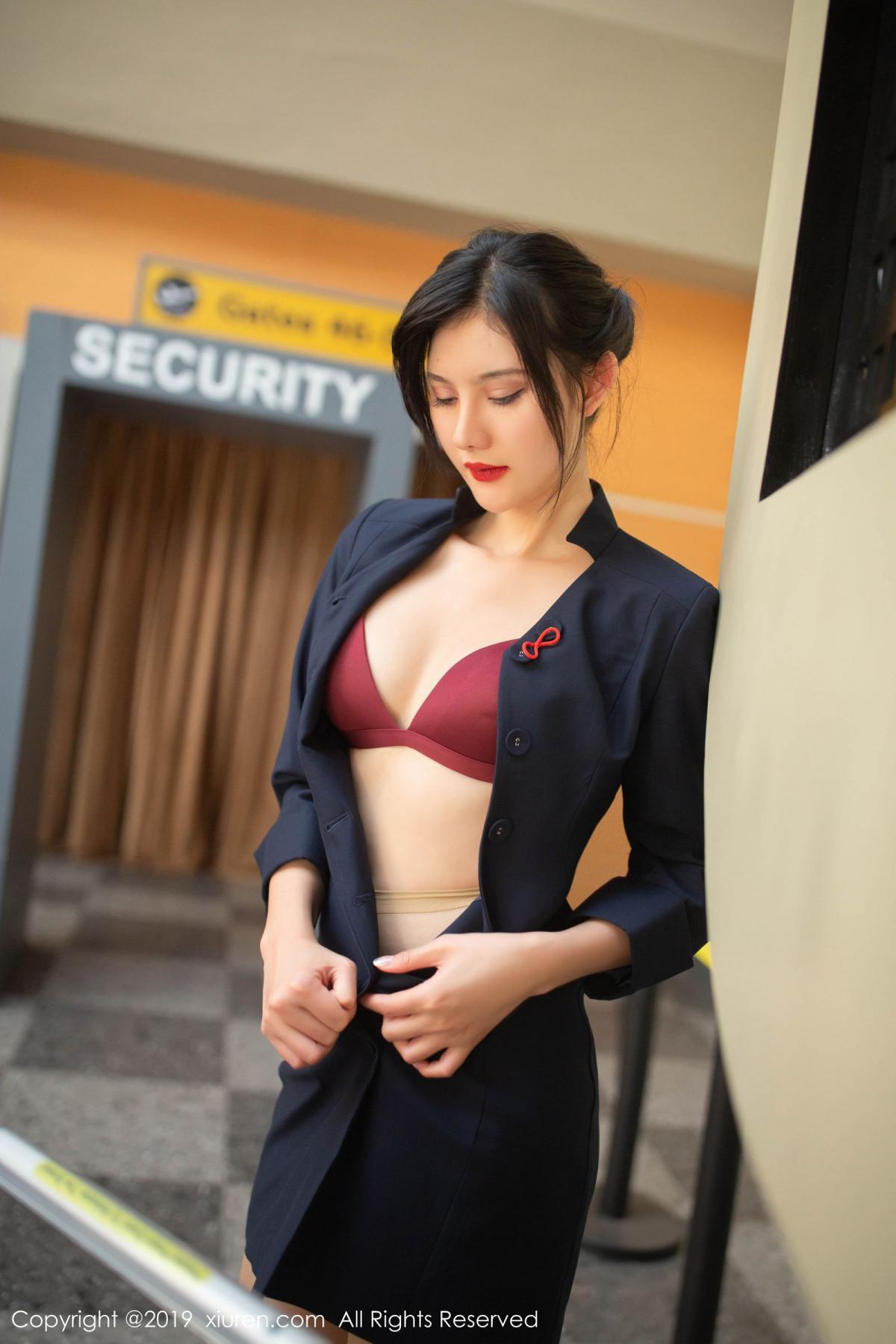 [XiuRen] Vol.1881 Jiu Shi A Zhu 68P, Black Silk, Jiu Shi A Zhu, Stewardess, Uniform, Xiuren