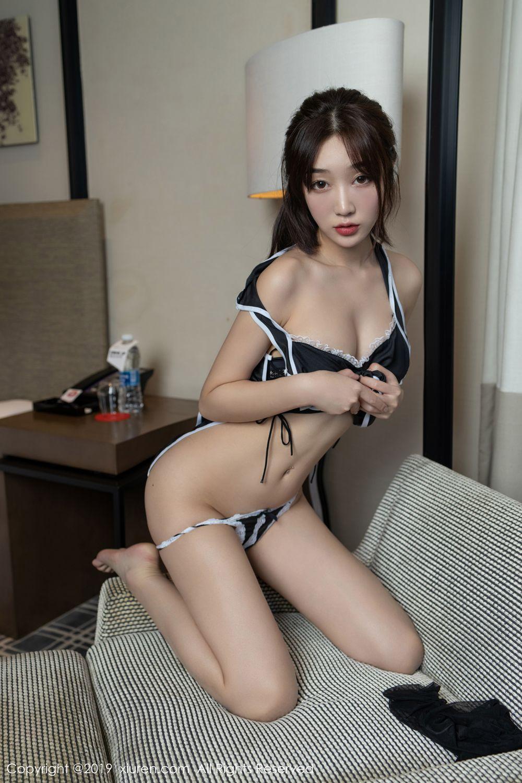 [XiuRen] Vol.1896 Jiu Yue Sheng 33P, Bellyband, Black Silk, Cheongsam, Xiao Jiu Yue, Xiuren