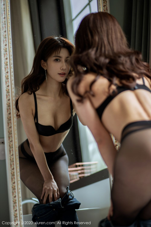 [XiuRen] Vol.1901 Lin Wen Wen 19P, Black Silk, Lin Wen Wen, Tall, Underwear, Xiuren