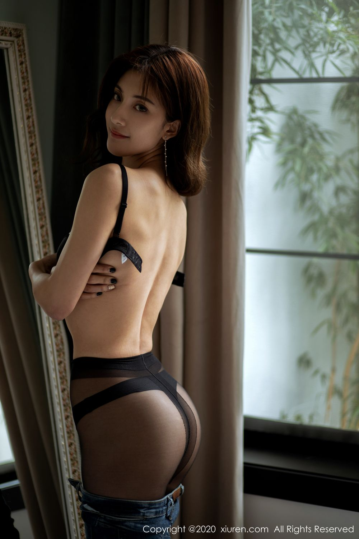 [XiuRen] Vol.1901 Lin Wen Wen 25P, Black Silk, Lin Wen Wen, Tall, Underwear, Xiuren