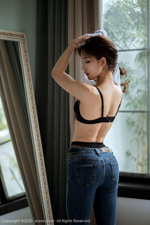 [XiuRen] Vol.1901 Lin Wen Wen 2P, Black Silk, Lin Wen Wen, Tall, Underwear, Xiuren