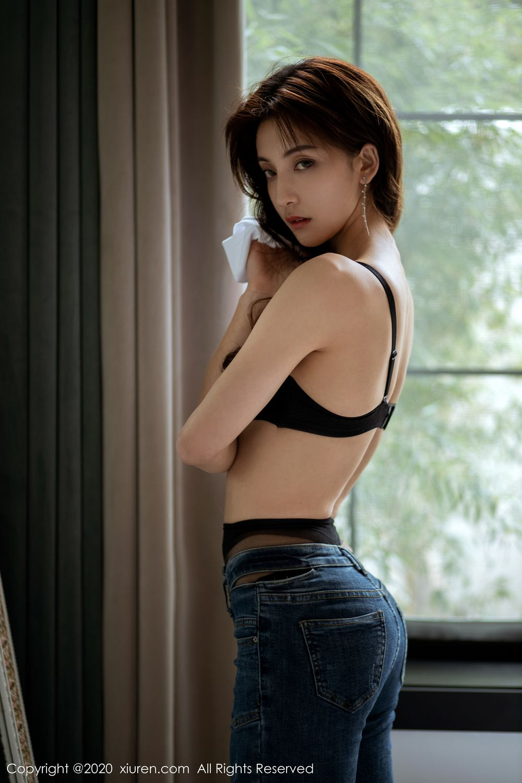 [XiuRen] Vol.1901 Lin Wen Wen 3P, Black Silk, Lin Wen Wen, Tall, Underwear, Xiuren
