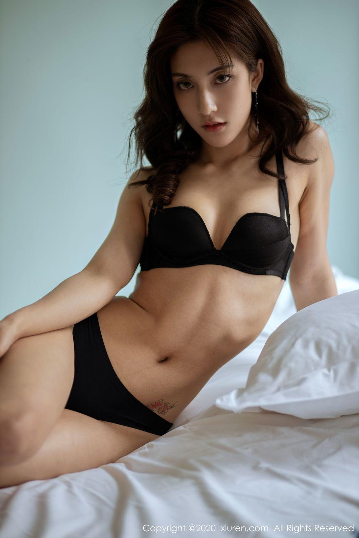 [XiuRen] Vol.1901 Lin Wen Wen 40P, Black Silk, Lin Wen Wen, Tall, Underwear, Xiuren